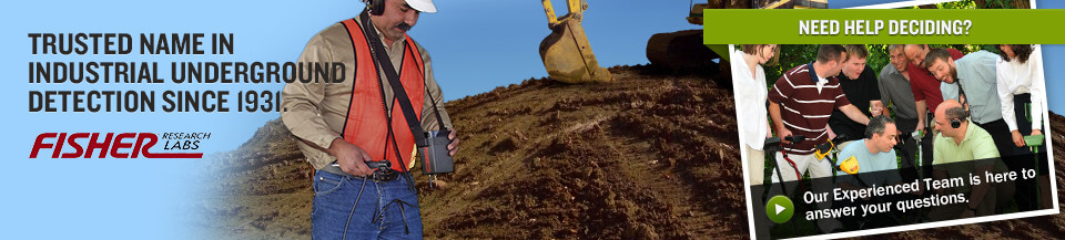 Fisher Industrial Metal Detector - Trusted Name in Industrial Underground Detection Since 1931.